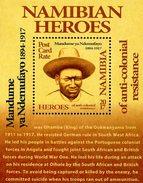 Namibia - 2017 - Namibian Heroes - Mandume YaNdemufayo - Mint Souvenir Sheet