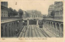 PARIS GARE DE L AVENUE HENRI MARTIN CHEMIN DE FER TRANSPORT TRAIN LOCOMOTIVE - Stations, Underground