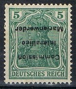 Sello 5 Pf Comision Interaliée MARIENWERDER 1920, Variedad Sobrecarga Invertida, Yvert Num 1A **