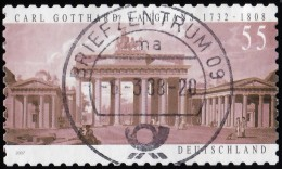 GERMANY - Scott #2464 Birth Of Carl Gotthard Langhans, 275th Anniv. 'Postmark, Briefzentrum' / Used Stamp - Used Stamps