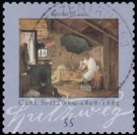 GERMANY - Scott #2474 Birth Of Carl Spitzweg, 200th Anniv. (*) / Used Stamp - Used Stamps