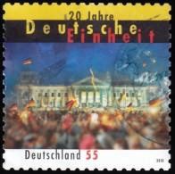 GERMANY - Scott #2590 German Reunion, 20th Anniv. / Used Stamp - BRD