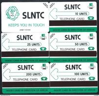 SIERRA LEONE Logo SLNTC 10+25+50+100+200 Verso URMET 5 Cards MINT Neuve Afrique - Sierra Leone