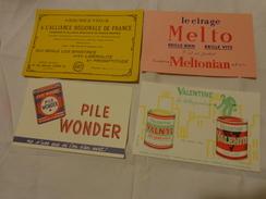 4 Buvards -melto Cirage-valentine-pile Wonder-assurance - Buvards, Protège-cahiers Illustrés