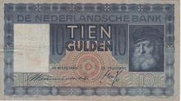 BILLETE DE HOLANDA DE 10 GULDEN DEL AÑO 1933 (BANKNOTE) - [2] 1815-… : Reino De Países Bajos