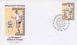 Enveloppe  FDC  1er   Jour   WALLIS  ET  FUTUNA     La  Pétanque    2009