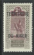 NIGER 1921 YT 2** SANS CHARNIERE NI TRACE - Niger (1921-1944)