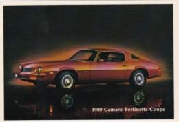 1980 Chevrolet Camaro Berlinetta Coupe - Postcards