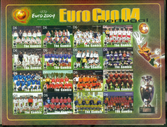 MINT NEVER HINGED MINI SHEET OF EURO CUP 04 PORTUGAL ( GAMBIA    2828****