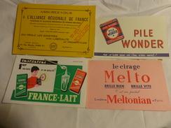 4 Buvards -melto Cirage-lait--pile Wonder-assurance - Buvards, Protège-cahiers Illustrés