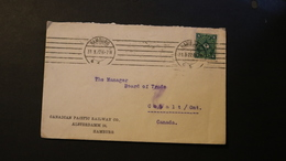 Germany Cover To Canada 4 Pf Cancelled 31.3.22 1922 A04s - Germany