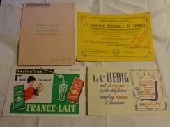4 Buvards -liebig--lait--librairie Gilbert-assurance - Buvards, Protège-cahiers Illustrés