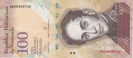 BILLETE DE VENEZUELA DE 100 BOLIVARES 29 DE OCTUBRE DEL 2013   (BANK NOTE) PAJARO - Venezuela