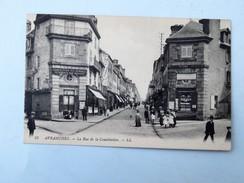 C.P.A. 50 AVRANCHES La Rue De La Constitution, Confection Pour Hommes,, Animé