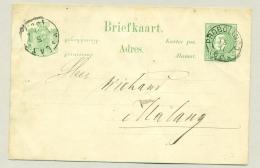 Nederlands Indië - 1889 - Briefkaart Van KR Probolingo Naar KR Malang - Kreukelig Geheel / Wrincles