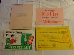 4 Buvards -cirage Melto-lait--librairie Gilbert-assurance - Blotters