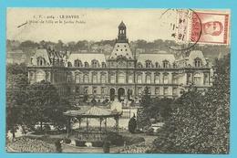 """123 Op Kaart """"Hotel De Ville"""" Met Stempel LE HAVRE (SPECIAL) Op 7/11/1914"""