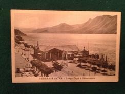 Cartolina Verbania Intra Lungo Lago E Imbarcadero  Tram Viaggiata 1947 - Verbania