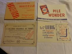 4 Buvards -liebig--pile Wonder-chicoree-assurance - Blotters