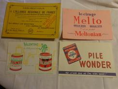4 Buvards -cirage Melto-pile Wonder-peinture-assurance - Buvards, Protège-cahiers Illustrés