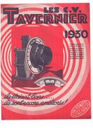 """Méc 1) (Publicité Ancienne Concernant La Mécanique)   """"Tavernier 1930""""  2 Pages  Rec/vers - Werbung"""