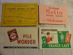 4 Buvards -cirage Melto-pile Wonder-lait-assurance - Buvards, Protège-cahiers Illustrés