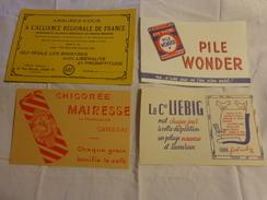 4 Buvards -chicoree Mairesse--pile Wonder-liebig-assurance - Buvards, Protège-cahiers Illustrés