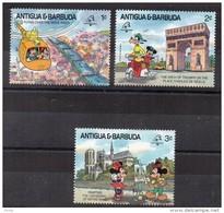 ANTIGUA ET BARBUDA - WALT DISNEY - VOYAGE A PARIS - II - PHILEXFRANCE89 - Petites Valeurs - 1989 -