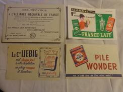 4 Buvards ---pile Wonder-liebig-assurance-lait - Blotters