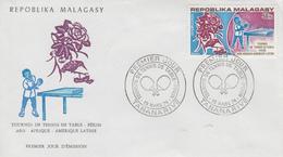 Enveloppe  FDC   1er  Jour  Tournoi  De  TENNIS   De  Table   à  PEKIN   1974