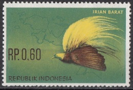 402 Indonesia 1963 Uccelli Birds : Uccello Del Paradiso  (Paradisaeidae) Nuovo MNH