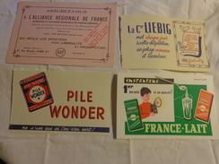 4 Buvards ---pile Wonder-liebig-assurance-lait - Buvards, Protège-cahiers Illustrés