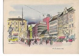 Victor  Weinrich    -       Oslo  -  Stortorvet   Mot  Grensen - Illustrators & Photographers