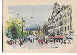 Victor  Weinrich    -       Oslo  -    Karl  Johans  Gate   Mot  Slottet - Illustrators & Photographers