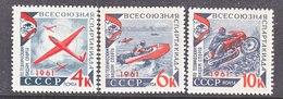 RUSSIA  2497-9     **  TECH  SPORTS  MOTORCYCLE,  SPEEDBOAT,  GLIDER