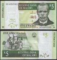 Malawi DEALER LOT ( 5 Pcs ) P 36 C - 5 Kwacha 1.12.2005 - UNC - Malawi