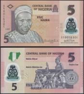 Nigeria DEALER LOT ( 5 Pcs ) - 5 Naira 2009 POLYMER - UNC - Nigeria