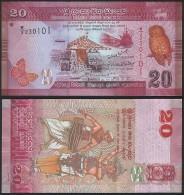 Sri Lanka P 123 - 20 Rupees 1.1.2010 ( 2011 ) - UNC - Sri Lanka