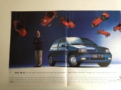 Renault Clio 16 S -Publicité Adverstising 1992 - Publicités