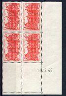 1767  -  FRANCE  N°804**  15Fr Rouge Palais Du Luxembourg    Du  14.12.48   SUPERBE - Coins Datés