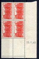 1774  -  FRANCE  N°804**  15Fr  Rouge    Palais Du Luxembourg   Du 25.11.48    TTB - Dated Corners