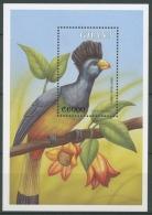 Ghana 2000 Einheimische Tiere Vögel Riesenturako Block 391 Postfrisch (C23958)