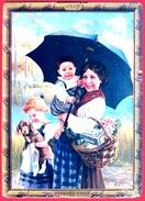 ** PLAQUE  1912  -  LU  FAMILLE  PARAPLUIE **