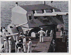 "CAID Sammelbild - Unsere Reichsmarine - Drillingsturm Des Kreuzers ""Königsberg"" (27598) - Cromo"