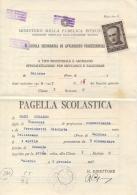 Italia 1947 Pagella Scolastica Con Vignetta 2 Lire Pro Vittime Politiche Col Montezemolo Usata Come Marca Da Bollo - Diplomi E Pagelle