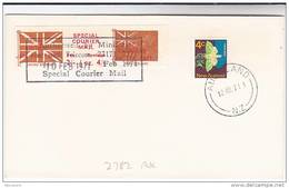 1971 COVER Auckland NEW ZEALAND Stamps GB POSTAL STRIKE COURIER MAiL LABEL Moth Insect Stamps - New Zealand