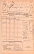 3789 BEL KOUIF Constantine Algérie 1930 Bordereau Valeur Recouvrée 1485 ENTIEREMENT Recouvré Donc Sans Timbre Taxe - Algérie (1924-1962)