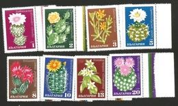 239. BULGARIE ~ 1970 : Fleurs De Cactus, 8 Valeurs, Bord De Feuille. Neuves**. MNH. Fraîcheur Postale
