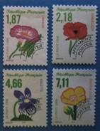 France 1998 : Fleurs Sauvages N° 240 à 243 Oblitéré