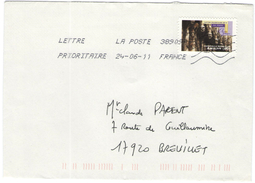 FRANCIA - France - 2011 - Lettre Prioritaire 20g Art Gothique Amiens - Viaggiata Da 38909A Per Breuillet, France - France